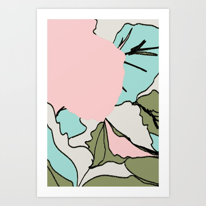 Back Soon (Olive Drab) Art Print