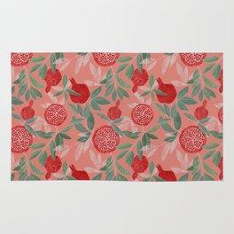 Pomegranate garden on peach pink Rug