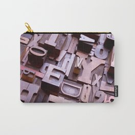3D Letters - Typography Photography™ Carry-All Pouch