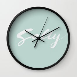 Salty Hand Lettering Calligraphy Wall Clock