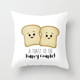 A Toast To The Happy Couple! Throw Pillow