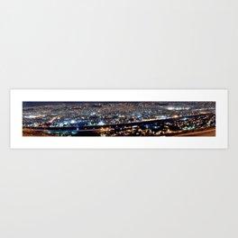 Infraestructura Urbana - Tijuana Iluminada Art Print