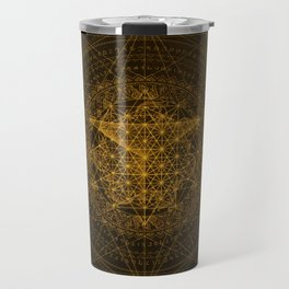 Dark Matter - Gold - By Aeonic Art Travel Mug