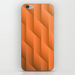 Gradient Orange Diamonds Geometric Shapes iPhone Skin