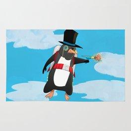 Professor Jetpack Penguin. Esquire.  Rug