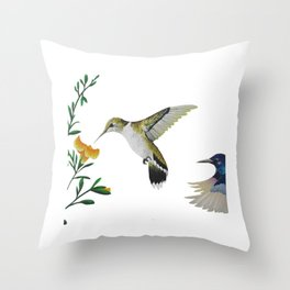 Colibris Throw Pillow