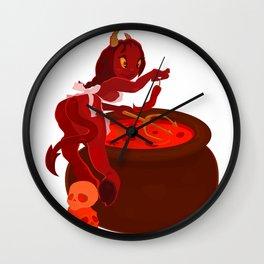Hot as Hell Chili Girl Wall Clock