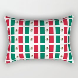 Flag of mexico 2- mexico,mexico city,mexicano,mexicana,latine,peso,spain,Guadalajara,Monterrey Rectangular Pillow