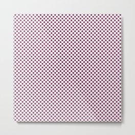 Boysenberry Polka Dots Metal Print