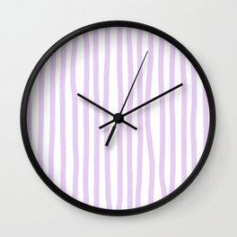 Lavender Stripes Wall Clock