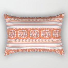 Orange Butterfly Pattern Rectangular Pillow