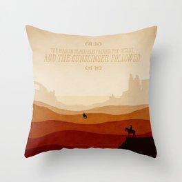 And The Gunslinger Followed - Dark Tower : The Gunslinger Throw Pillow