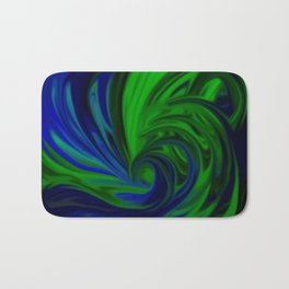 Blue and Green Wave Bath Mat