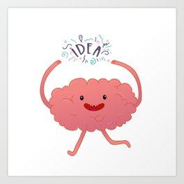 Happy brain time Art Print