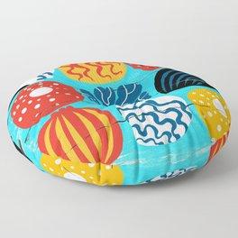 on the beach Floor Pillow