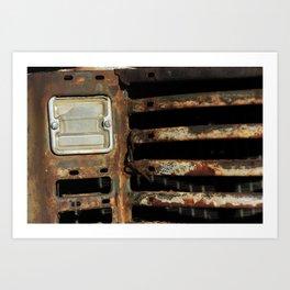 Detail Rusted International Truck1. Art Print