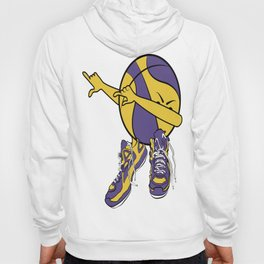 Dabbin' D-Roc in Purple and Gold Hoody