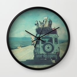 NEVER STOP EXPLORING II SOUTH AMERICA Wall Clock