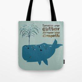 Glitter Whale Tote Bag