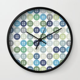 I love buttons Wall Clock