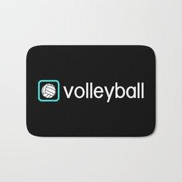 Volleyball (Blue) Bath Mat