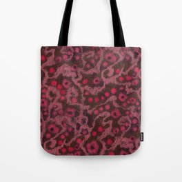 Pink Flowers, Blush Curves, fiber art Tote Bag