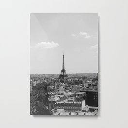 View from Arc de Triomphe Metal Print