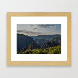 Black Canyon of the Gunnison National Park at Sunrise Framed Art Print