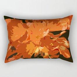 Orange Bush Lily Rectangular Pillow