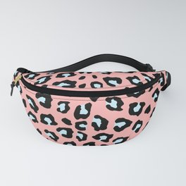 Leopard Print - Icy Peach Fanny Pack