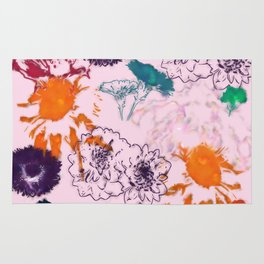 fall floral pink Rug