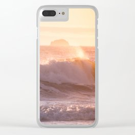Ocean sunset Clear iPhone Case