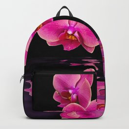 Mystical Pink Orchids Reflections Backpack