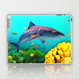 Shark in the water Laptop & iPad Skin