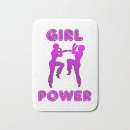 Girl Power Martial Arts Sparring Females Bath Mat