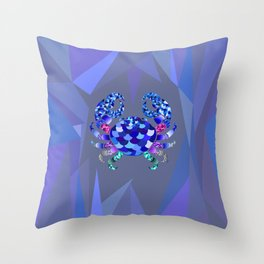 The Blue Crab Throw Pillow