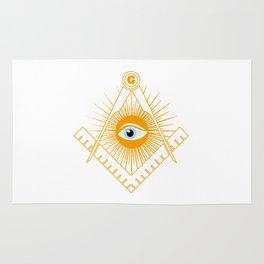 Freemasonry symbol Rug