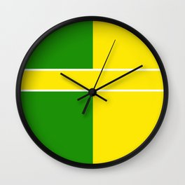 Team Colors 6...Yellow,green Wall Clock