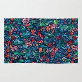 Tropical Ink - a watercolor garden Rug