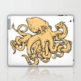 Giant Octopus Fighting Hydra Drawing Laptop & iPad Skin