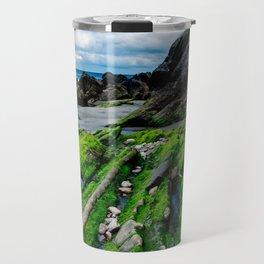 Green beach Travel Mug