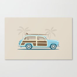 Iconic Surf Car Canvas Print