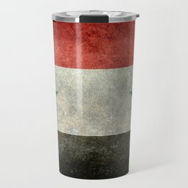 Syrian national flag, vintage Travel Mug