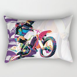 Motocross WPAP Rectangular Pillow
