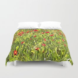 Surreal Hypnotic Poppies Duvet Cover