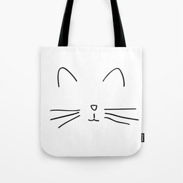 Minimalist Cat Outline Tote Bag