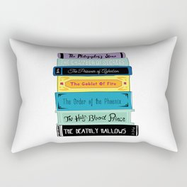 Hogwarts Stack of Wizardly Books Rectangular Pillow