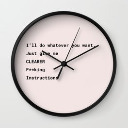 Clearer Instructions Wall Clock