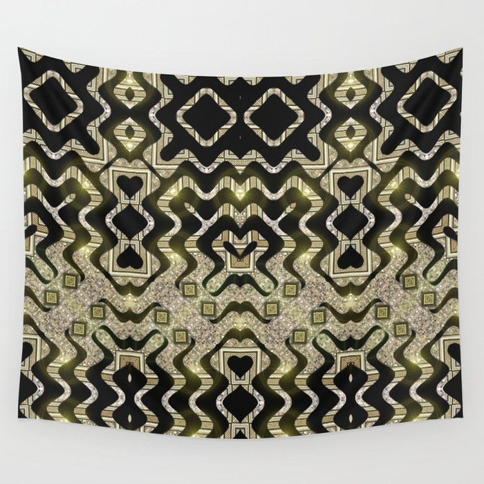Tribal Gold Glam Wall Tapestry