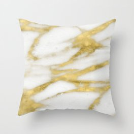 Bari golden marble Throw Pillow